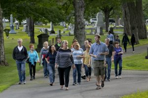 photo of a graveyard tour in bangor maine