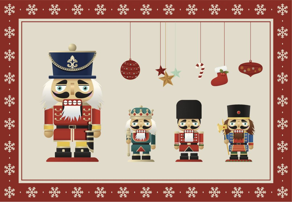 Enjoy this year's Nutcracker theme.